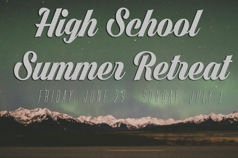 High School Retreat Banner JPG